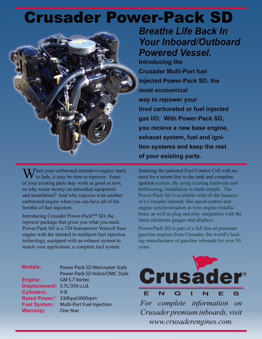 Inboard Outboard Engines Crusader 300 350 Marine Inc Gm Atlas Engine Upgrade Sd Power Pack